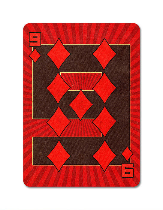Karnival 1984 Playing Cards - bigblindmedia.com 9 of Diamonds