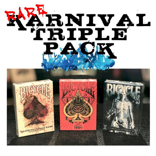 Rare Bicycle Karnival Playing Cards Triple Pack!