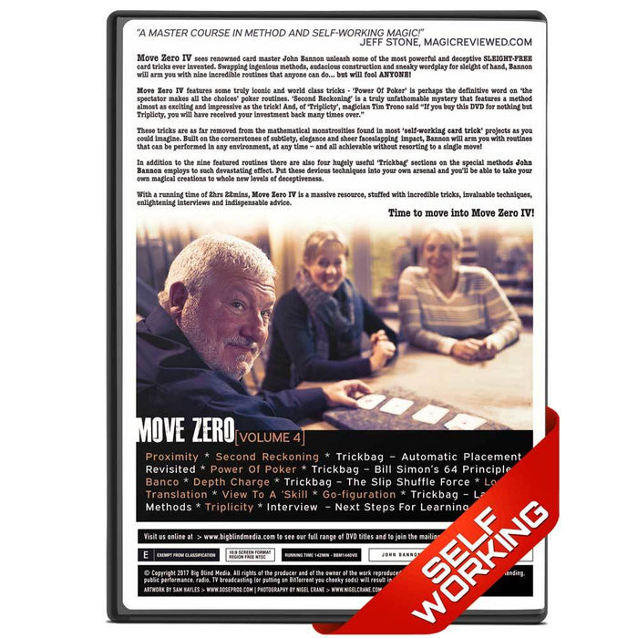 Move Zero Vol 4 by John Bannon - bigblindmedia.com DVD Back