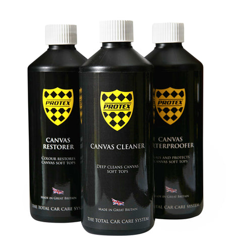 Protex Convertible Soft Top Canvas Cleaner/Restorer (BLACK)/Waterproofer 500ml