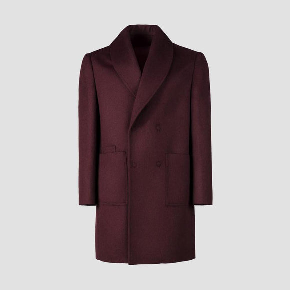 Herrenmantel 'Double-Breasted Alpaca Coat'