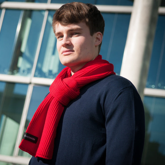 Schal 'The Red Merino Knit'