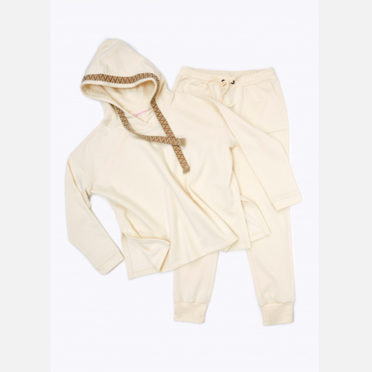 Loungewear-Set 'Hoodie & Hose Slim' in Offwhite