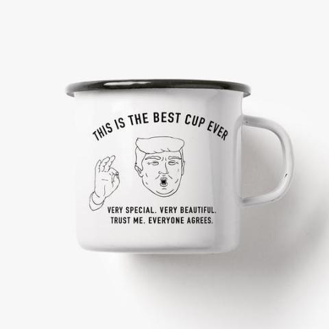 Emaillebecher 'Best Cup Ever'