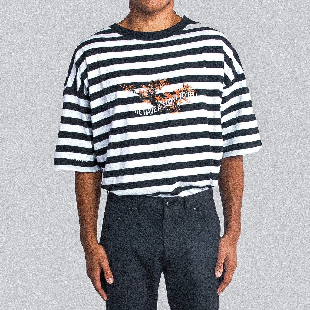 STRIPED TEE BLACK
