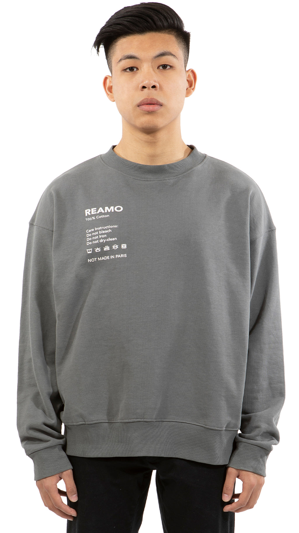 CARE CREWNECK GREY