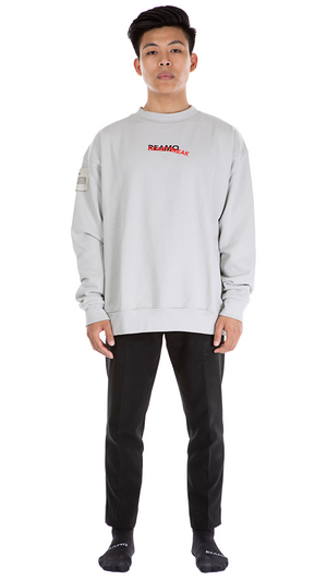 HEARTBREAK CREWNECK LIGHT GREY