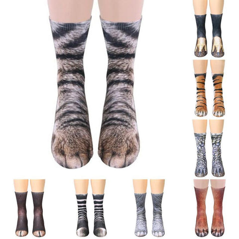 Animal Paw Crew Socks - veryswank