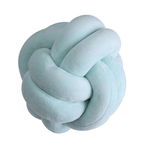 Handmade Knot Ball Pillow - veryswank