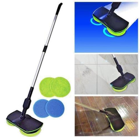 WIRELESS ROTARY ELECTRIC MOP (1 SET) - veryswank