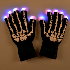 Skeleton light up gloves - veryswank
