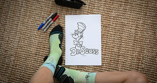 Dr Seuss colouring in pages