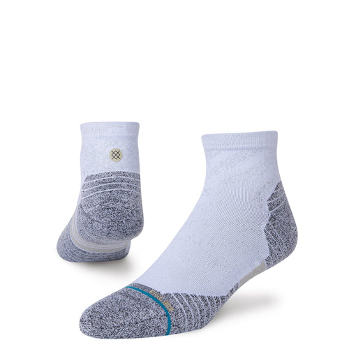 Stance Socks RUN QUARTER STAPLE White