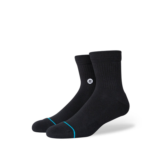 Stance Socks ICON QUARTER Black