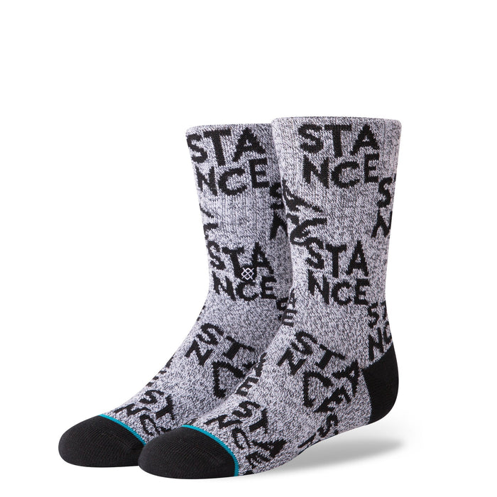 Stance Kids Socks Checkered Boys Grey