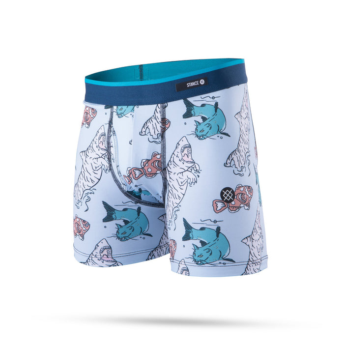 Stance Kids Underwear Boys Cat Fish Boxer Brief Blue