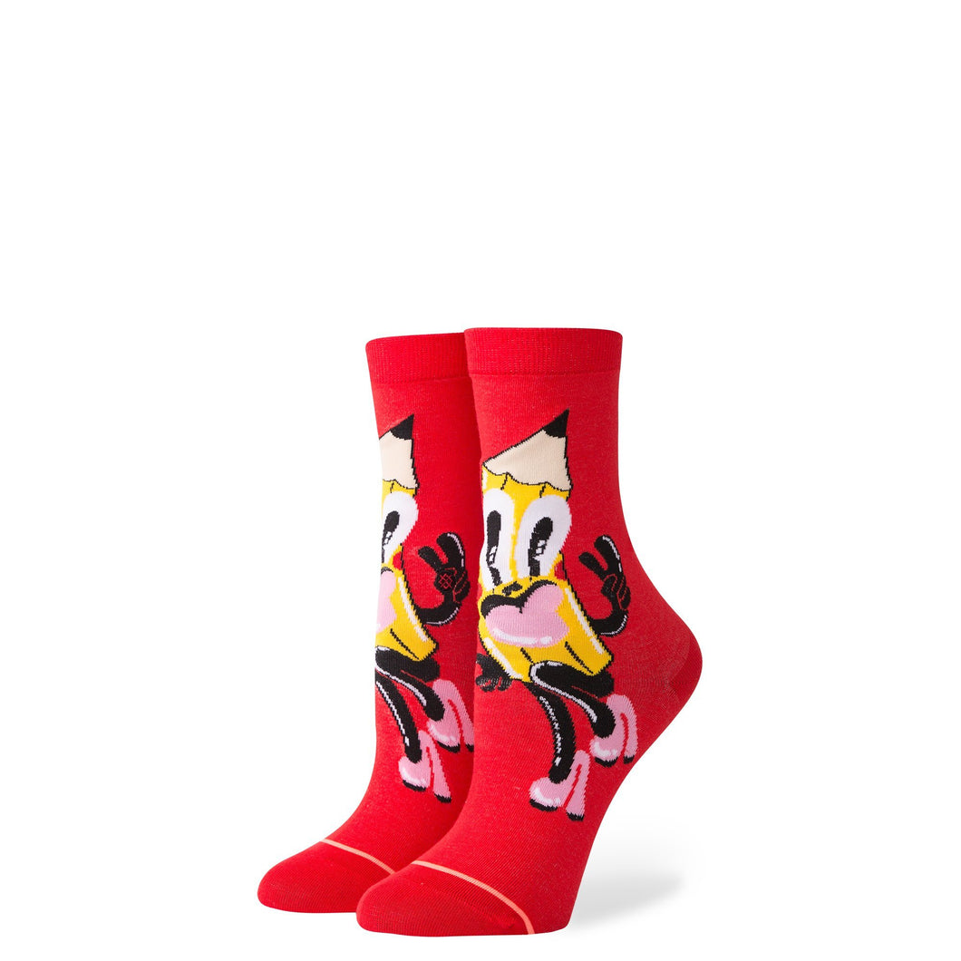 Stance Kids Socks Pencil Me In Girls Red