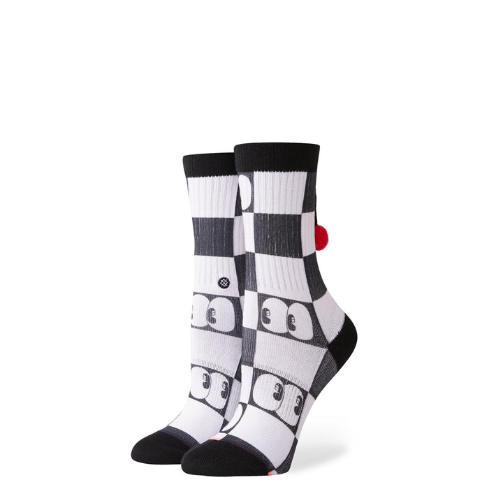 Stance Kids Socks Don't Make Me Smile Girls White