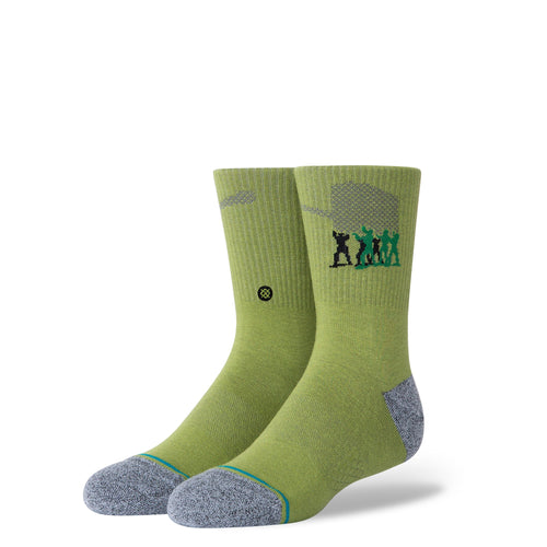 Stance Socks Army Men Kids Green