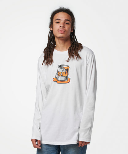 Stance T-Shirts SLAM SPILL LONG SLEEVE White