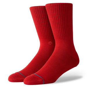 Stance Socks Icon Dahlia red