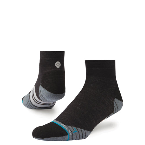 Stance Socks Bike Solids Wool Quarter Charcoal