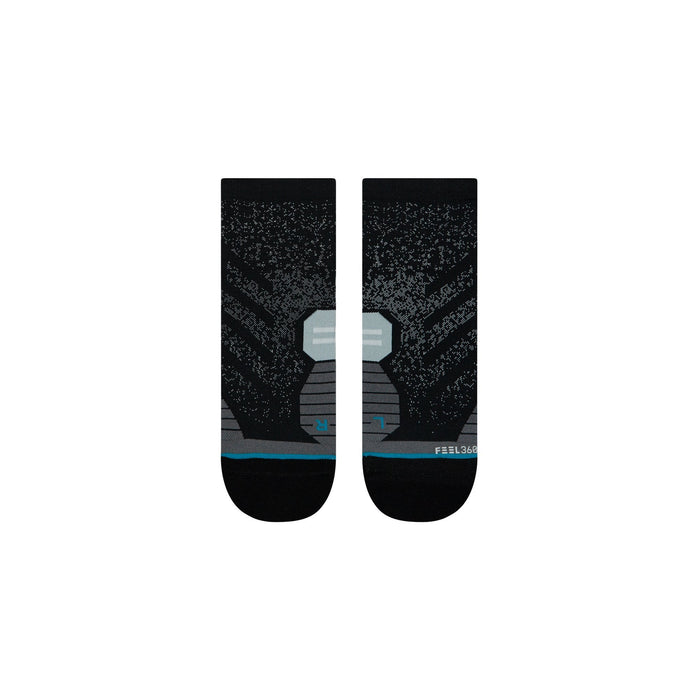 Stance Running Socks Uncommon Quarter Black