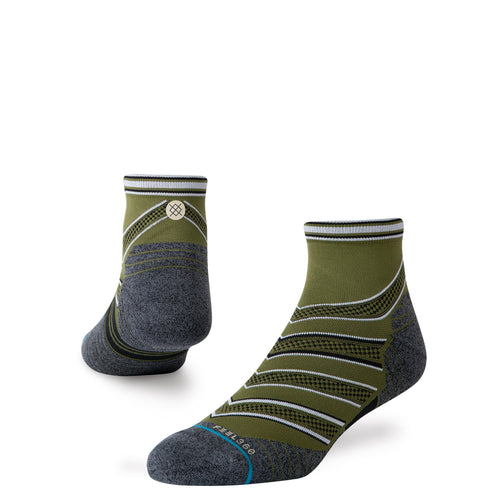 Stance Socks CONFLICTED QUARTER Green