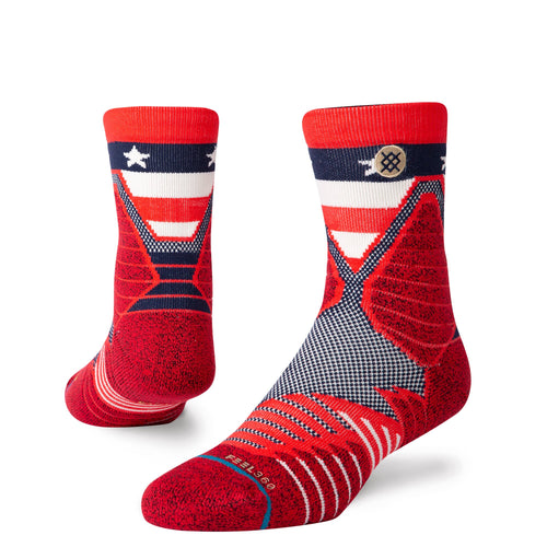Stance Socks HOOPS AMERICAN QUARTER Red