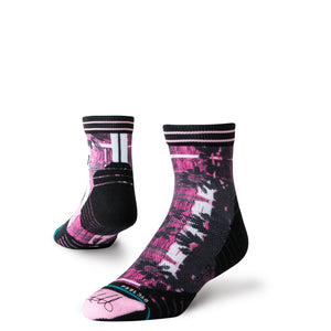 Stance Socks Golf Bubba Daisy Qtr Pink
