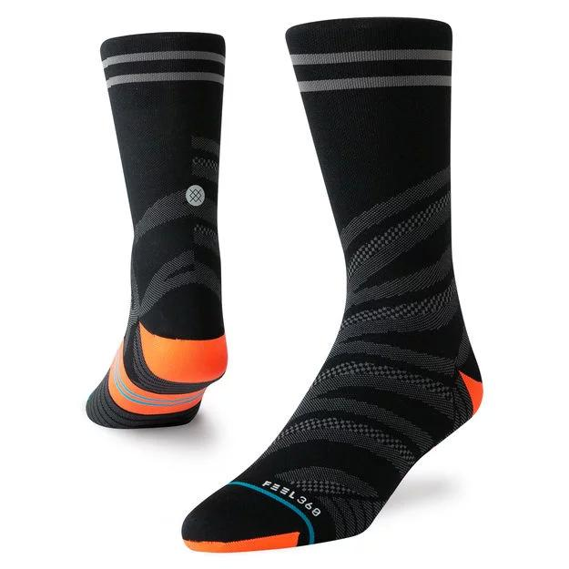 Stance Running Socks Uncommon Lite Crew Black