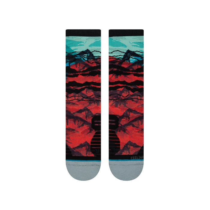 Stance Running Socks Peaks Crew Multicoloured
