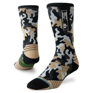 Stance Running Socks Smoked Camo Crew Multi