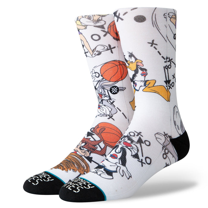 Stance Basketball Socks Looney Tunes White