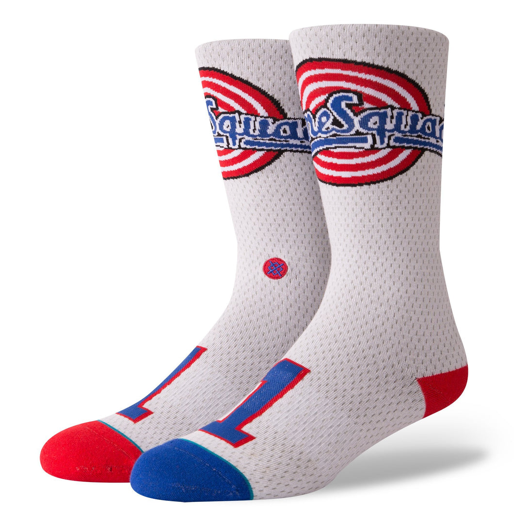 Stance Basketball Socks Tune Squad Jersey White