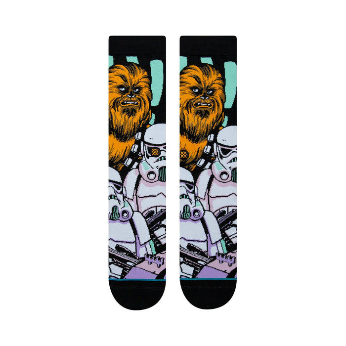 Stance Star Wars Socks Warped Chewbacca Black