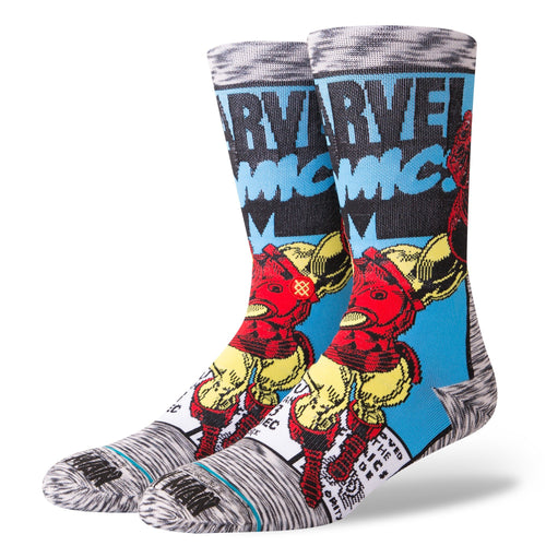 Stance Marvel Socks Iron Man Comic Grey