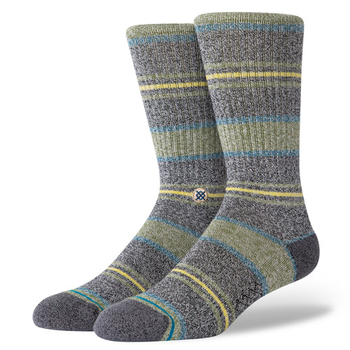 Stance Socks DEFEAT CREW Green