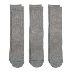 Stance Socks Icon 3 Pack Grey heather