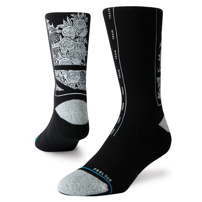 Stance Training Socks Fields Crew Black
