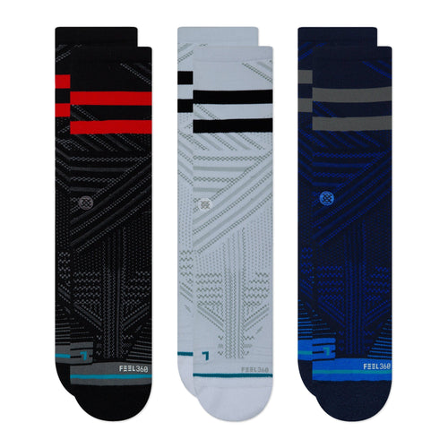 Stance Socks MENS TRAIN CREW 3 PACK Multi