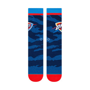 Stance Basketball Socks Thunder Camo Melange Blue