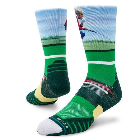 STANCE SOCKS JACK NICKLAUS GOLF CREW SOCK IN Green