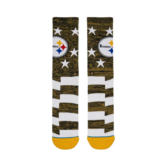 Stance NFL Socks Steelers Banner Yellow