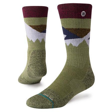 STANCE SOCKS DIVIDE HIKE ADVENTURE SOCK OLIVE