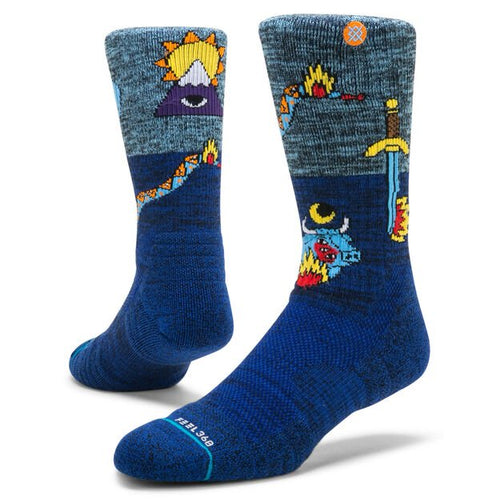 Stance Socks Cavolo Creatures Hike Blue