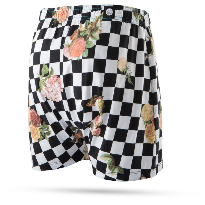 Stance Underwear Floral Check Out Boxer Black