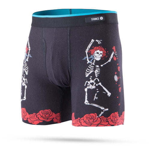Stance Underwear Dead Head Boxer Brief Black