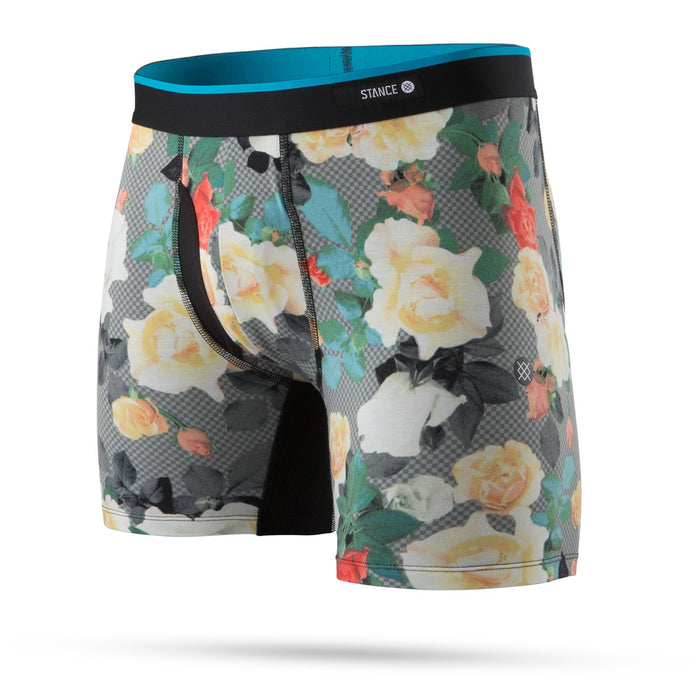 Stance Underwear Floral Program Boxer Brief Black