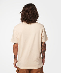 Stance T-shirts Shelter Pocket Mens Oatmeal heather
